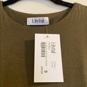 lilyful Dresses - Olive Green Lilyful Dress